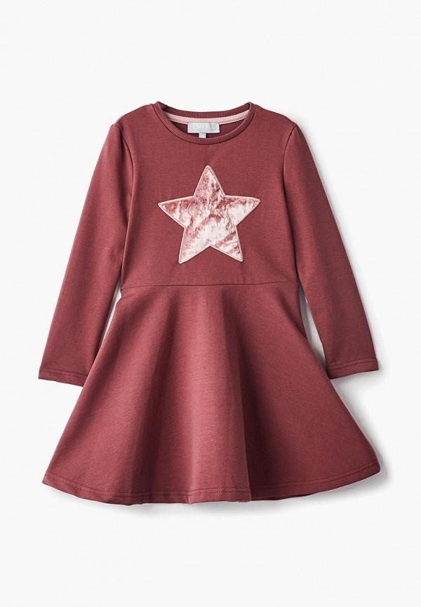 повседневные платье смена для девочки, бордовое