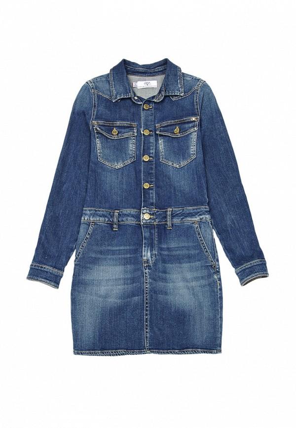 джинсовые платье le temps des cerises для девочки, синее