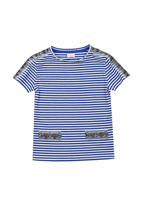 футболка с коротким рукавом bigu для девочки, голубая