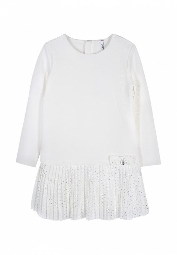 повседневные платье coccodrillo для девочки, бежевое