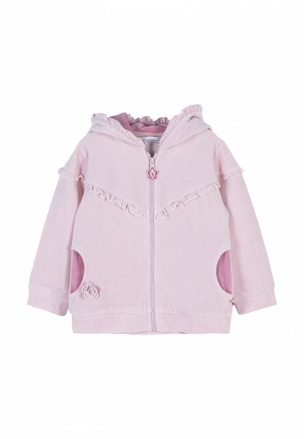 толстовка coccodrillo для девочки, розовая