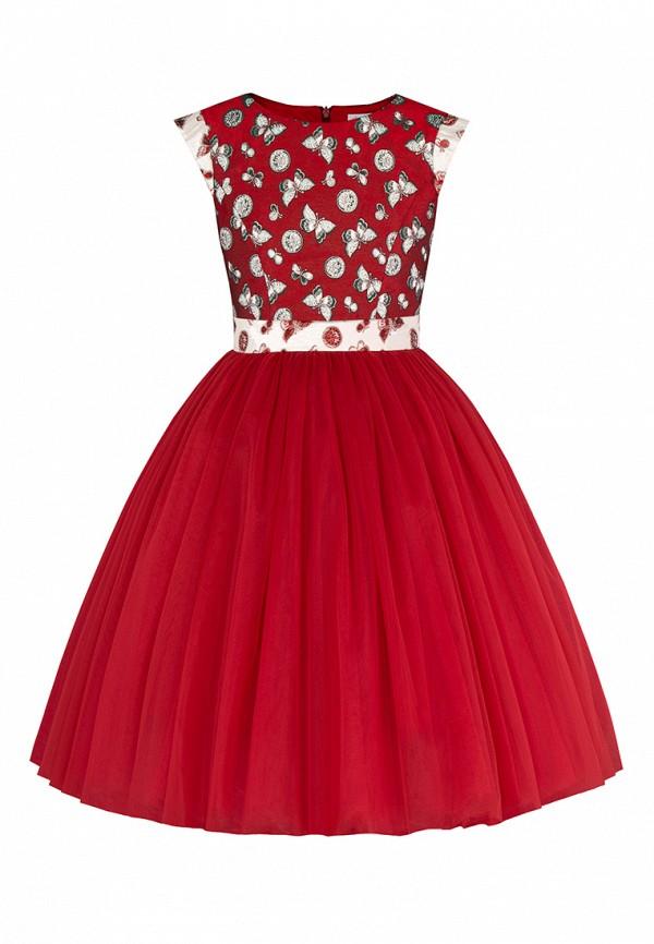 платье alisia fiori для девочки, красное