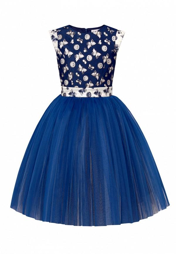 платье alisia fiori для девочки, синее