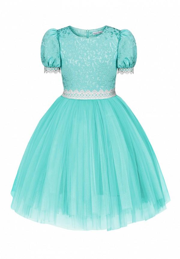 платье alisia fiori для девочки, бирюзовое