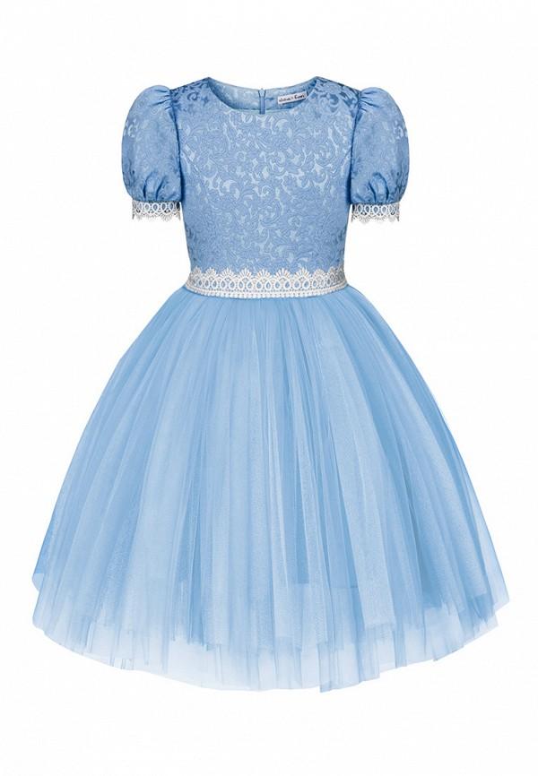 платье alisia fiori для девочки, голубое