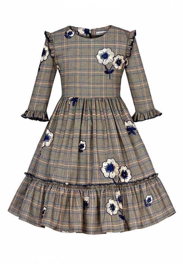 повседневные платье alisia fiori для девочки, бежевое