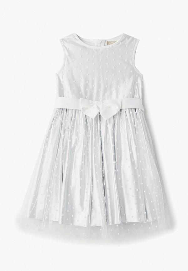 платье смена для девочки, серебряное