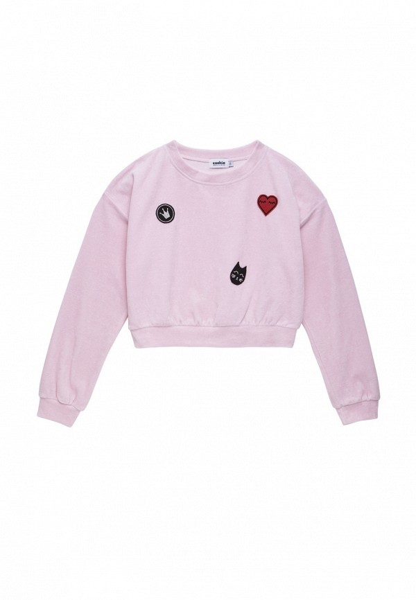 свитшот cookie для девочки, розовый