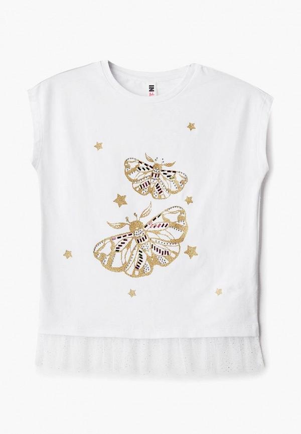 футболка с коротким рукавом infunt для девочки, белая