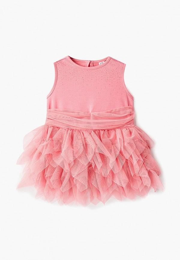 платье pixo для девочки, розовое