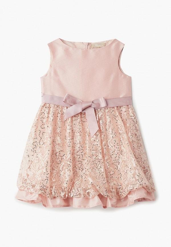 платье смена для девочки, розовое