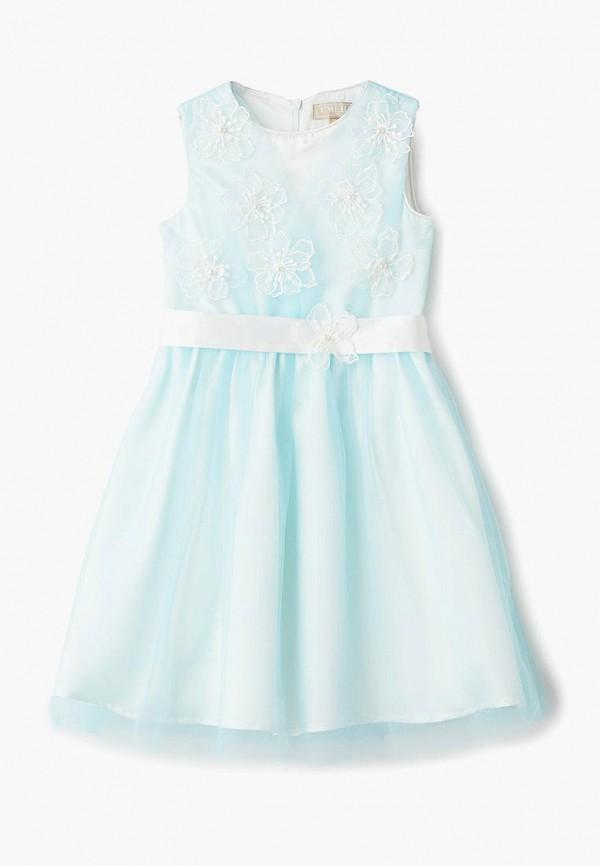 платье смена для девочки, голубое