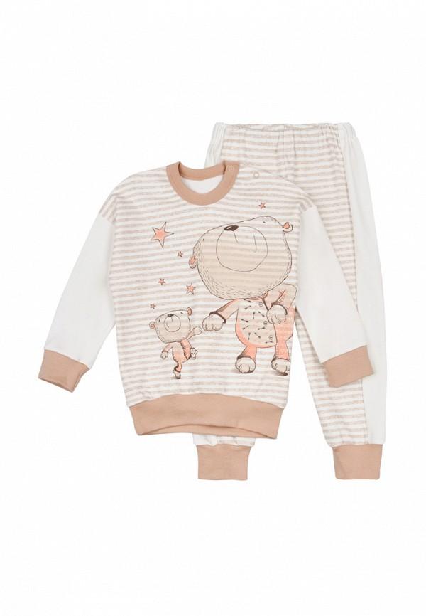 пижама ля-ля для девочки, бежевая