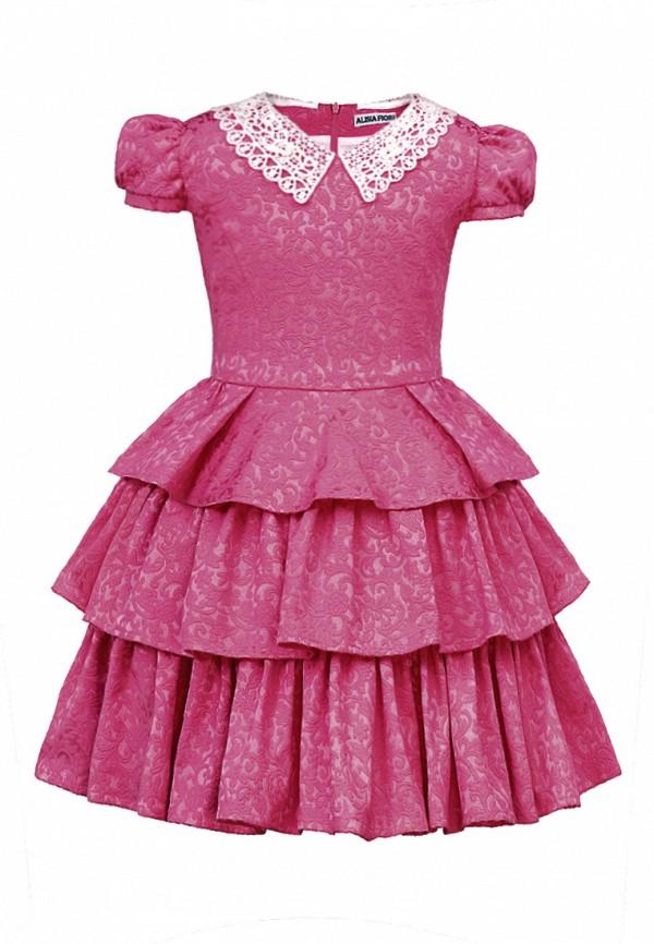платье alisia fiori для девочки, бордовое