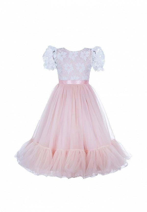 платье love story для девочки, розовое