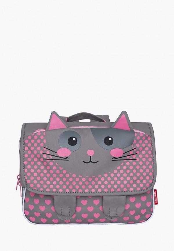 рюкзак grizzly для девочки, серый