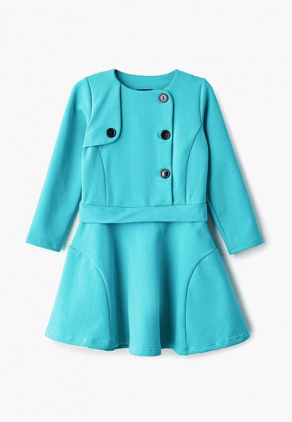 повседневные платье archyland для девочки, бирюзовое