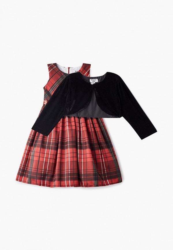 платье bonjour bebe для девочки, красное