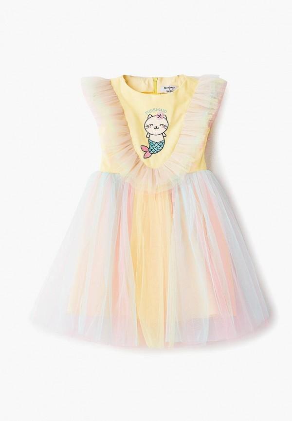 платье bonjour bebe для девочки, разноцветное
