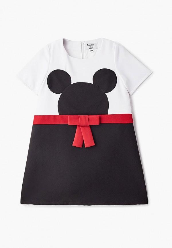 повседневные платье bonjour bebe для девочки, разноцветное