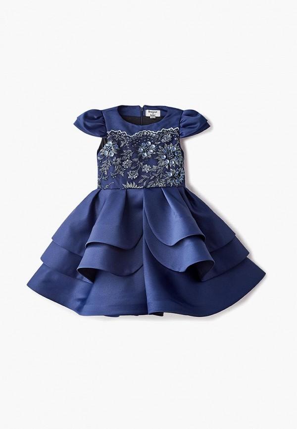 платье bonjour bebe для девочки, синее