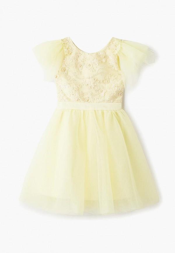 платье bonjour bebe для девочки, желтое