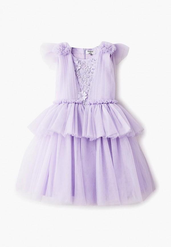 платье bonjour bebe для девочки, фиолетовое