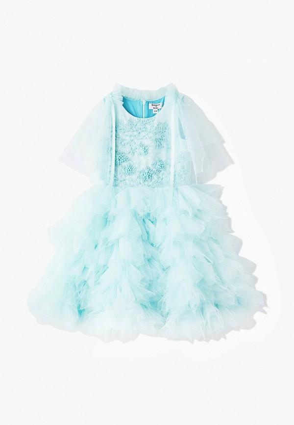 платье bonjour bebe для девочки, бирюзовое