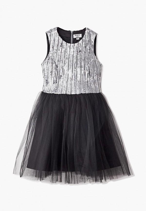 платье bonjour bebe для девочки, серебряное