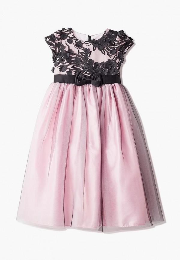 платье bonjour bebe для девочки, розовое