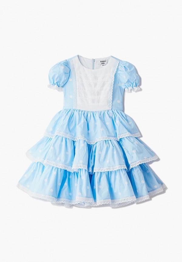 платье bonjour bebe для девочки, голубое