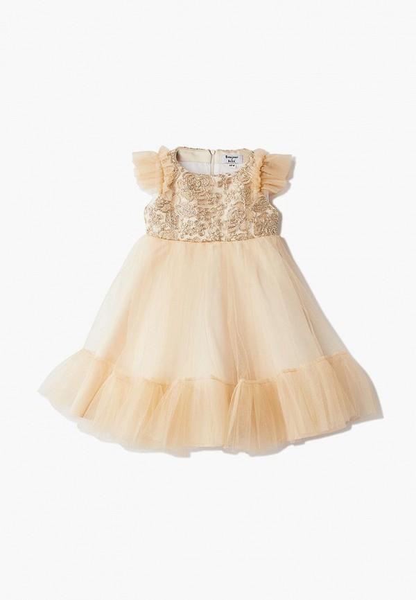 платье bonjour bebe для девочки, золотое