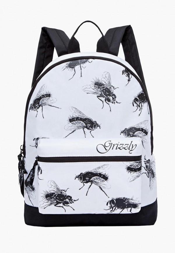 рюкзак grizzly для девочки, белый