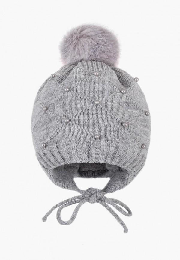 шапка чудо-кроха для девочки, серая