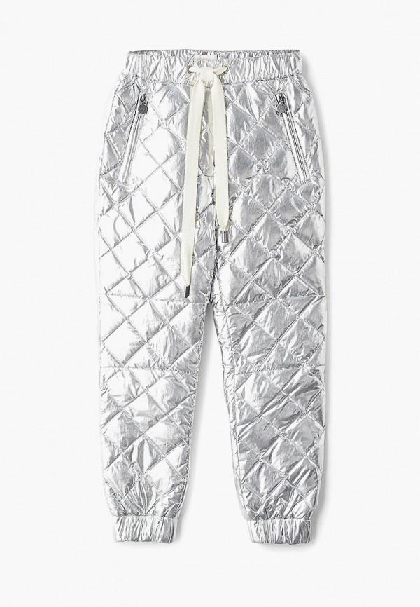 брюки princess naumi для девочки, серебряные