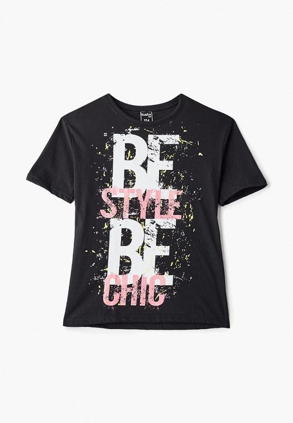футболка с коротким рукавом elaria для девочки, черная