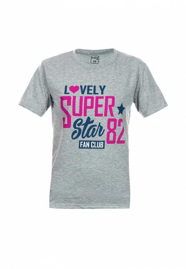 футболка с коротким рукавом elaria для девочки, серая