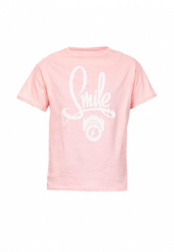 футболка с коротким рукавом elaria для девочки, розовая