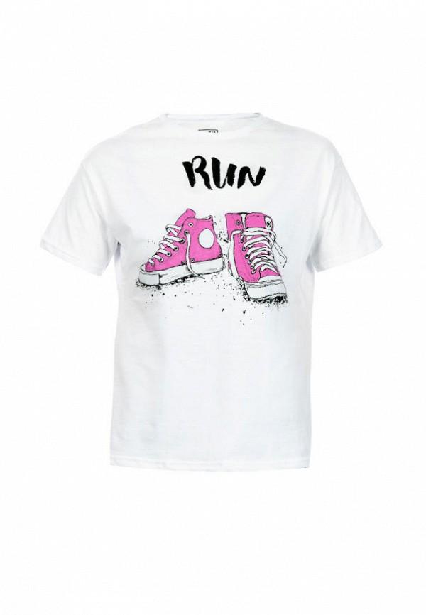 футболка с коротким рукавом elaria для девочки, белая