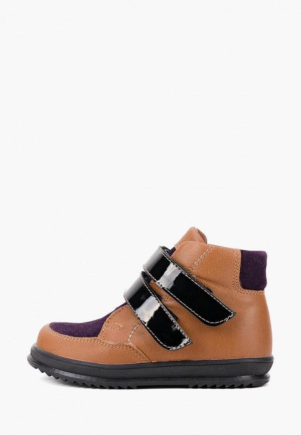 ботинки miracle me для девочки, коричневые