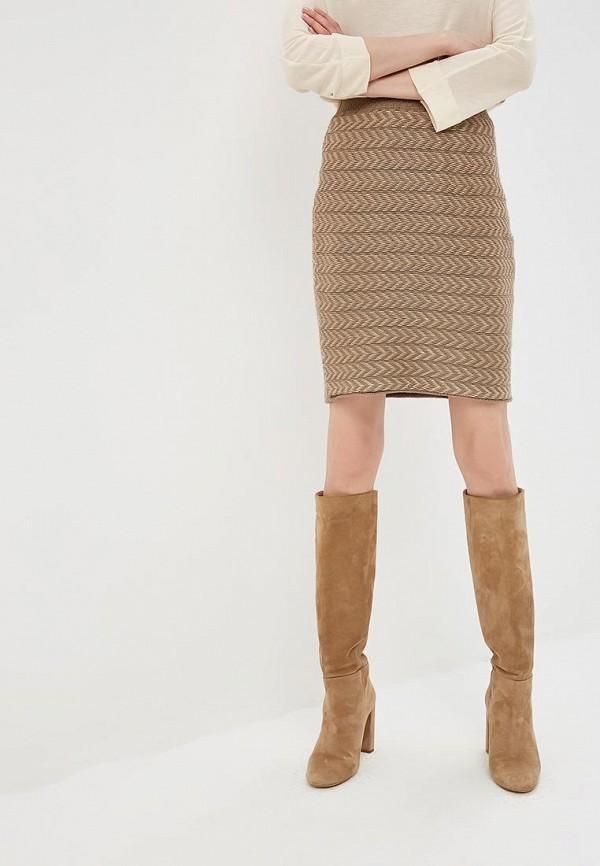 Юбка MaryTes MaryTes MP002XG00GLI юбка трика бежевый оранжевый 54 размер