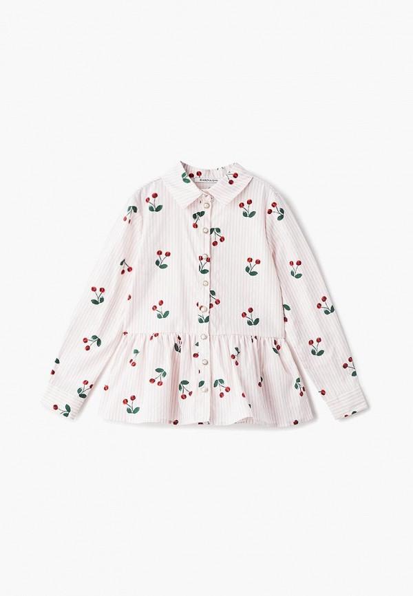 блузка zarina для девочки, розовая