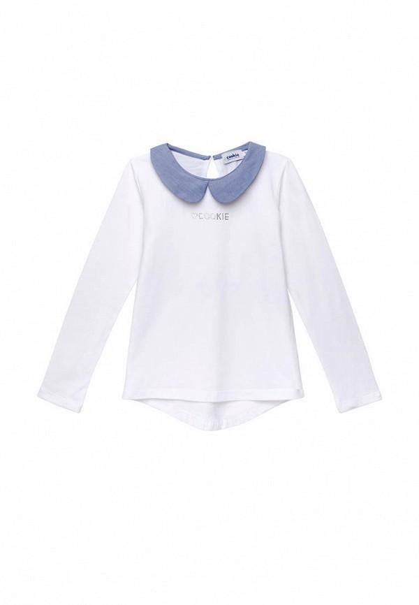 блузка cookie для девочки, белая