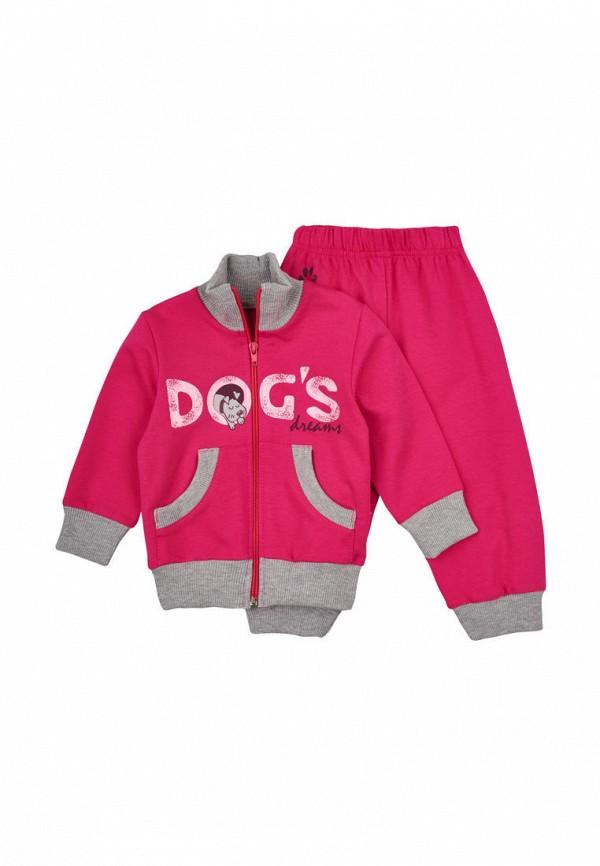спортивный костюм robinzon для девочки, розовый