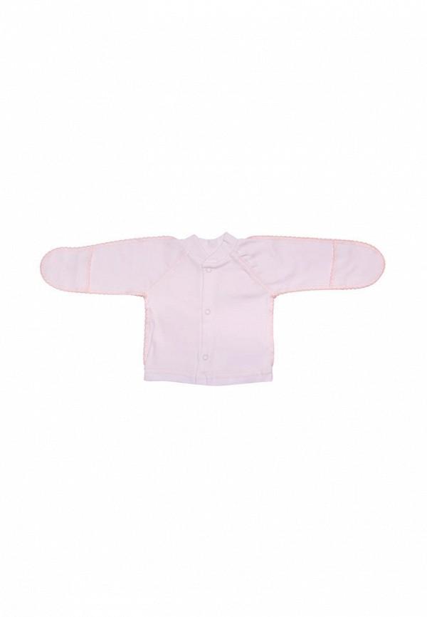 распашонка клякса для девочки, розовая