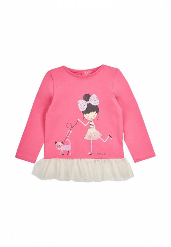 лонгслив robinzon для девочки, розовый