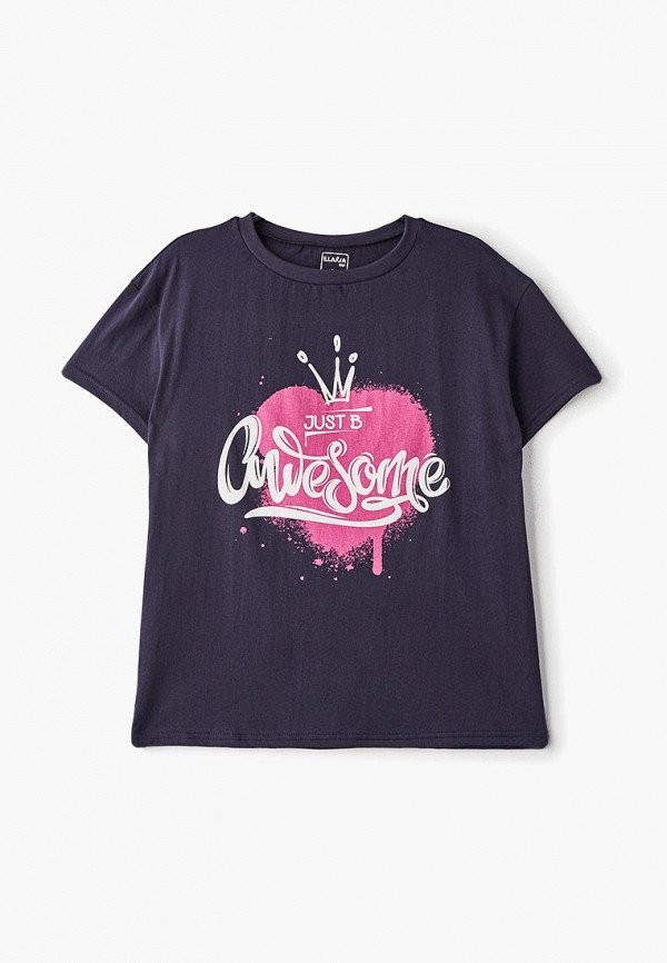 футболка с коротким рукавом elaria для девочки, синяя