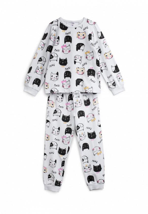 пижама playtoday для девочки, белая