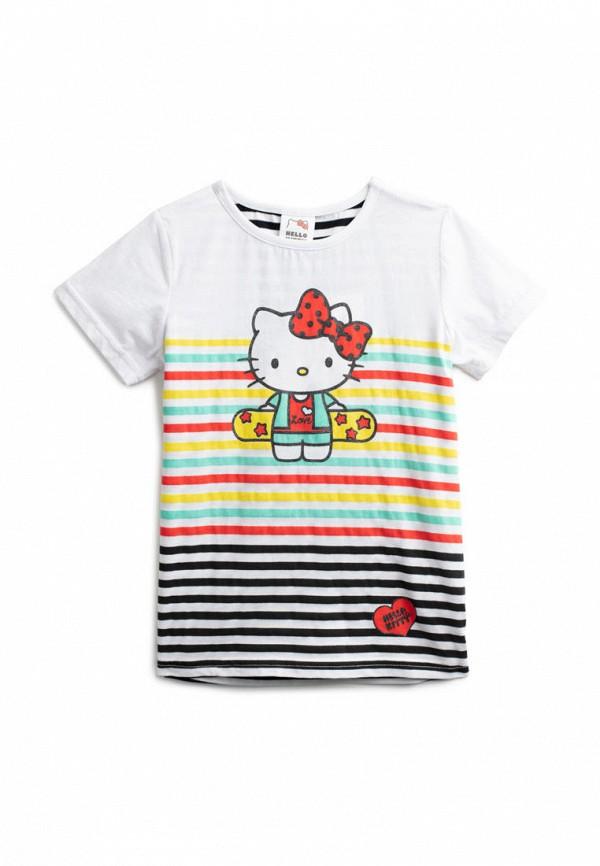 футболка с коротким рукавом playtoday для девочки, разноцветная