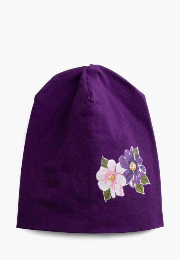 шапка playtoday для девочки, фиолетовая